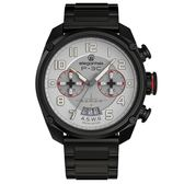 elegantsis★贈錶帶 / ELJX47QS-P3C / 限量 P-3C反潛機成軍週年紀念款 防水100米 不鏽鋼手錶 灰x鍍黑 47mm