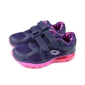 LOTTO 運動鞋 魔鬼氈 氣墊 紫/桃紅 女鞋 LT9AWR0877 no006