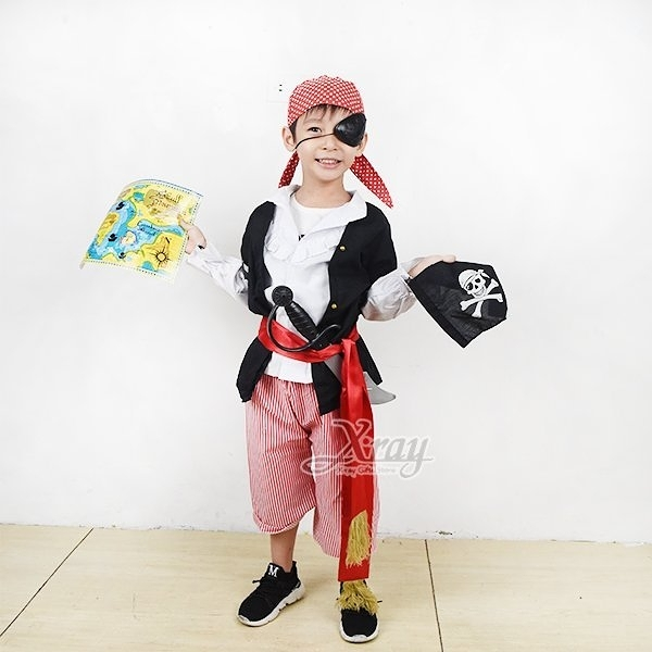 職業-海盜,化妝舞會/角色扮演/活動表演/萬聖節/聖誕節/兒童變裝/cosplay,X射線【W370001】