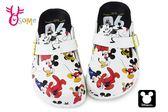 米奇90周年 印花兒童拖鞋 迪士尼 MIT 休閒鞋 F5291#白色 ◆OSOME奧森童鞋
