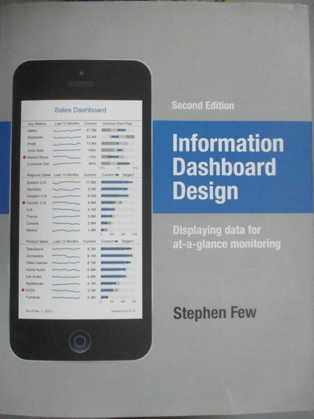 【書寶二手書T7/電腦_QBM】Information Dashboard Design: Displaying data for at-a-glance monitoring_Few, Stephen