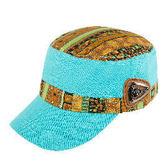 民族風遮陽帽 1500015 湖水綠 防曬 遮陽 戶外休閒