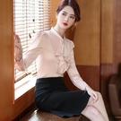 白襯衫 白色襯衫女設計感小眾2020春秋韓版時尚氣質飄帶長袖上衣雪紡襯衣
