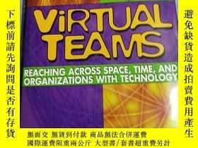 二手書博民逛書店VIRTUAL罕見TEAMS:Reaching Across Space,Time,and Organizatio