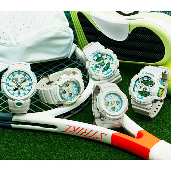 CASIO 卡西歐 G-SHOCK 夏日太陽能電波手錶-湖水藍 AWG-M100SWG-7A / AWG-M100SWG-7ADR
