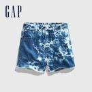 Gap女童做舊風格紮染牛仔短褲575100-紮染