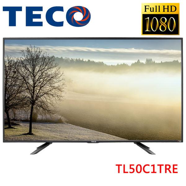 《送基本安裝》TECO東元 50吋FHD液晶顯示器TL50C1TRE+視訊盒TS1317TRA