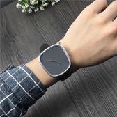 北歐創意極簡約手錶男學生時尚潮流女商務個性卵桶形手錶石英腕表