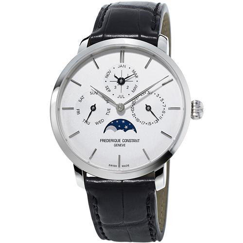 康斯登 CONSTANT Manufacture系列超薄萬年曆腕錶   FC-775S4S6