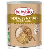【買就送第一階段米精】BABYBIO 有機寶寶全穀麥精 250g-法國原裝進口8個月以上嬰幼兒專屬副食品