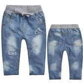 *╮S13小衣衫╭*中大童韓版時尚水洗牛仔褲  1040941
