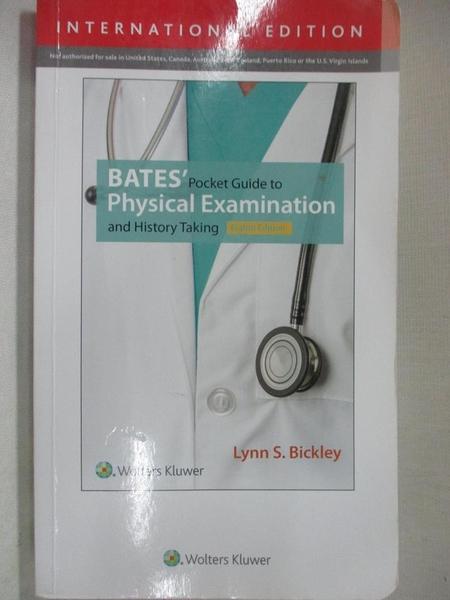 【書寶二手書T1/醫療_A7Q】Bates Pocket Guide to Physical Examination and…