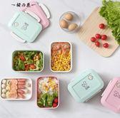 飯盒便當盒學生食堂簡約可愛微波爐專用分格韓國創意成人密封塑料【櫻花本鋪】
