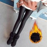 打底褲女 内搭裤 冬季大碼高腰羊羔絨光澤褲加絨加厚保暖踩腳外穿小腳保暖褲《小師妹》yp897