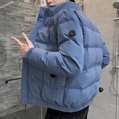 外套 男士外套冬季2019新款棉衣情侶正韓修身潮流短款棉襖工裝羽絨棉服【免運】