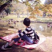 野餐墊 戶外野餐墊野營墊可機洗超大加寬環保折疊遊戲墊地墊YXS「七色堇」