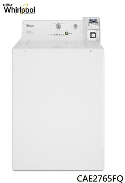 Whirlpool 惠而浦【CAE2765FQ】9公斤直立式商用投幣洗衣機『美國原裝進口』