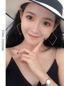 耳環   韓國ins風氣質不規則方形幾何耳環個性簡約耳飾E202