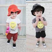 寶寶短袖T恤裝新款男童笑臉打底衫女童休閒上衣嬰幼兒體恤艾美時尚衣櫥