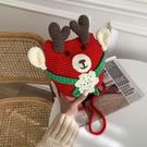 聖誕禮物 編織包包圣誕節禮物手工diy材料包鉤針織毛線自制麋鹿送女友閨蜜【快速出貨八折搶購】