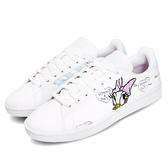 adidas 休閒鞋 Grand Court 白 藍 女鞋 黛西 唐老鴨 迪士尼 皮革鞋面 運動鞋【PUMP306】 FY0249