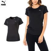 Puma Workout Tee 女 黑 運動短袖 訓練系列 短袖 短tee 運動內搭上衣 透氣 排汗 訓練 快乾 51279301