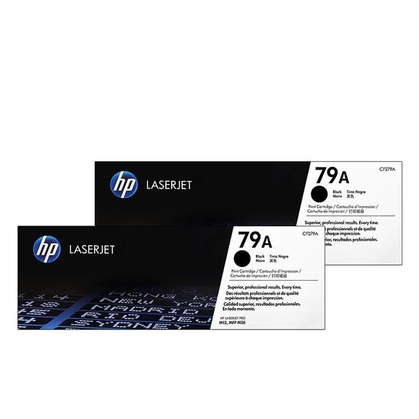 原廠碳粉匣 HP 2黑組合包 CF279A / CF279 / 279A / 79A /適用 HP LaserJet Pro M12A / M12w / MFP M26a / MFP M26nw