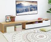 電視櫃 簡易電視柜茶幾組合套裝現代簡約客廳小戶型伸縮電視柜經濟型地柜igo       琉璃美衣