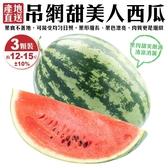 【果農直配-全省免運】吊網甜美人西瓜X3顆(約4台斤±10%/顆)