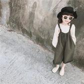 TOTObaby  春裝男女寶寶連體褲兒童棉麻休閒 闊腿背帶褲