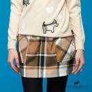 兩側大口袋造型格紋短裙 【AF2106】