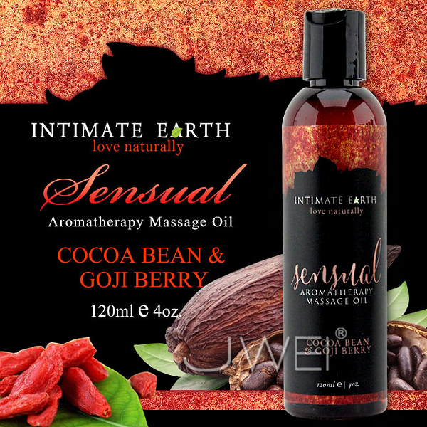 969情趣~美國Intimate-Earth.Sensual 芳香按摩油-可可豆&枸杞(120ml)