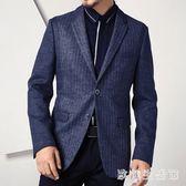 中大尺碼西裝外套男 男士毛呢西裝外套上衣西服商務修身百搭 nm10418【歐爸生活館】