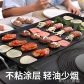 燒烤爐家用烤肉盤電烤盤鐵板燒盤無煙電燒烤爐小燒烤架烤肉機用具YYJ 育心館 雙十一特惠