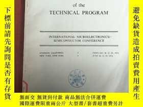 二手書博民逛書店proceedings罕見of the technical program(P3023)Y173412