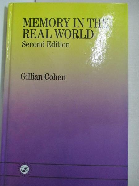 【書寶二手書T9/大學理工醫_KFT】Memory in the real world_Cohen, Gillian