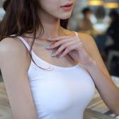 吊帶背心女士 白色打底衫短款小背心 吊帶衫棉修身性感內搭 背心女