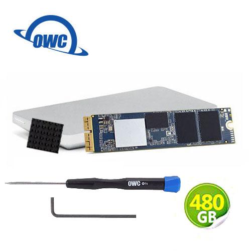 OWC Aura Pro X2 480GB NVMe 適用於Mac Pro SSD 完整升級套件 含工具、散熱片及Envoy Pro外接盒 (OWCS3DAPT4MP05K)