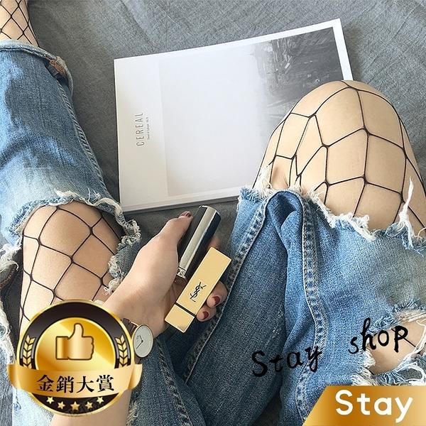 【Stay】爆款性感女士漁網襪 時尚鏤空黑絲網格 連體襪 絲襪 襪子 褲襪【P58】
