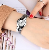 手錶女 韓版簡約時尚手表女士學生手表男士女表情侶防水超薄石英男表腕表交換禮物 中秋節