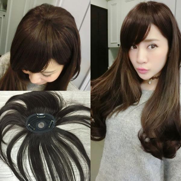 100%真髮 機織頭頂髮片 少女髮 無接縫妹妹頭瀏海 可遮白髮 H612 魔髮樂Mofalove