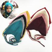 嬰兒帽子秋冬季6-12個月護耳兒童針織帽男女寶寶毛線帽1-2歲 【格林世家】