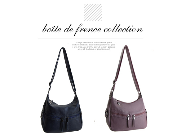 二用包-法國盒子.時尚柔和美型二用包(共二色)M-707