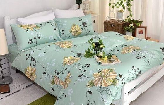 夏日戀曲、100% 精梳棉 【床包6X6.2尺/枕套X2/雙人鋪棉被套】4件組 台灣製