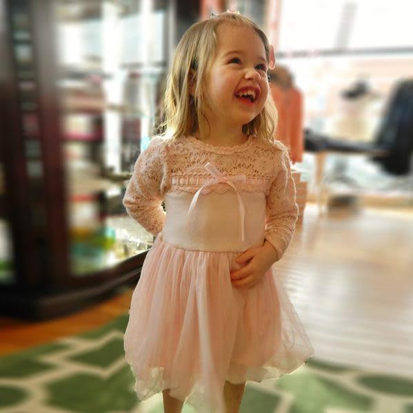 ★童裝大亨★美國MAELI ROSE 宮廷風蕾絲領洋裝紗裙5K01粉
