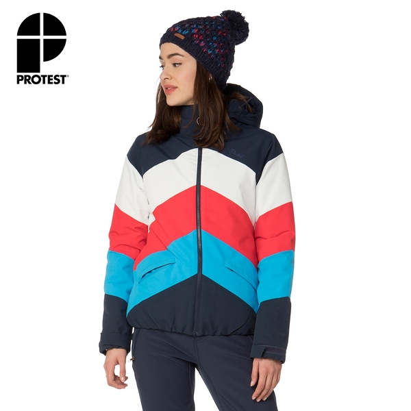 PROTEST 女 機能防水保暖外套 (地表藍) BELLINI SNOWJACKET
