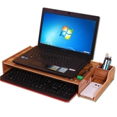 筆記本電腦增高架辦公室桌面收納盒顯示器增高鍵盤收納一體機抬高【全館免運】