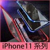 【萌萌噠】iPhone 11 Pro Max 第三代萬磁王 蝙蝠俠造型 金屬邊框+雙面玻璃 iPhone11 磁吸安裝手機殼
