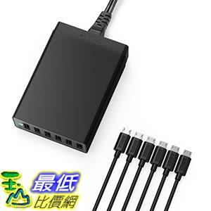 [106美國直購] Anker PowerPort 6(60W 6-Port USB Charging Hub)+[6-Pack]1ft Micro USB Cables 集線器/充電器
