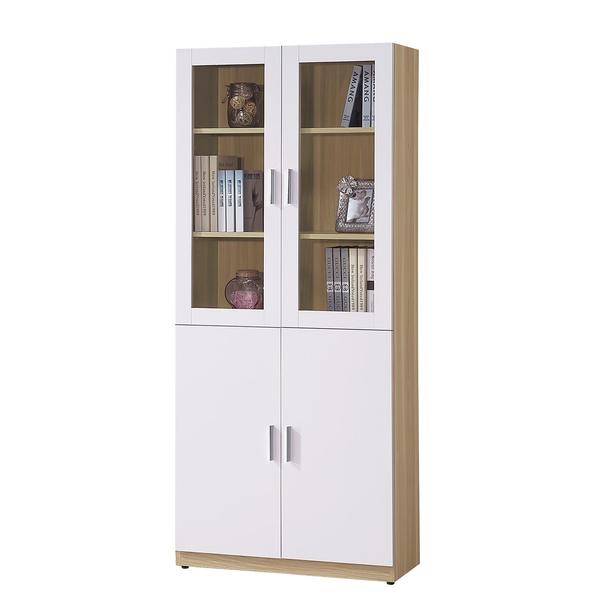 OB004-艾美北歐2.7尺四門書櫃(19HY2/B502-04)【DD House】